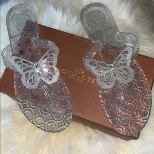 Coach Clear Pasarella Jelly Butterfly Sandal